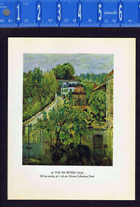 Sisley Landscape: View of Sevres, France - Color Lithograph