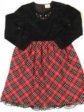 Hanna Andersson Girls Size 130 Red Plaid Holiday Dress