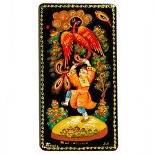 Trinket Box. Russian Lacquer Box w/ Firebird Fairytale PALEKH Paleh Artwork