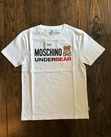 Moschino Underbear Logo White T-Shirt EU Small (DUSTBAG INCLUDED)