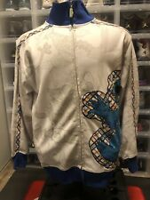 Vintage Sesame Street Cookie Monster Full Zip Sweater Men's Size Medium M White