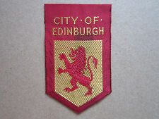 City Of Edinburgh Woven Cloth Patch Badge Boy Scouts Scouting