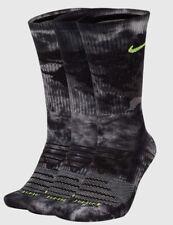 NIKE 3-Pack Everyday Max Crew Socks sz L Large (8-12) Camo Gray Black Volt