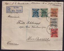 PALESTINE REGISTERED ENVELOPE JAFFA TO MULHOUSE/FRANCE THROUGH HAIFA POSTMARK