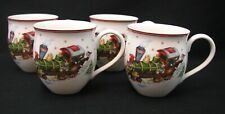 Villeroy & Boch Toy's Delight Mug Cup - North Pole Express Set of 4 NWT