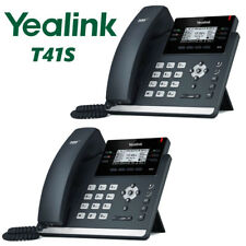 2 Pack Yealink SIP-T41S IP Desk Business Phone 6-Line Optima HD WiFi Bluetooth