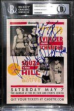 Tonya Evinger Angela Hill Colleen Schneider +1 Signed Invicta Flyer BAS COA UFC