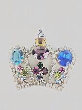 SILUANE CROWN Art Glass Pin - Excellent Condition & Beautiful design!