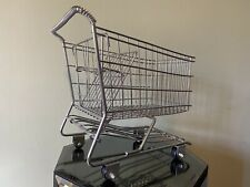 Mini Chrome Shopping Cart Metal Basket Planter Display