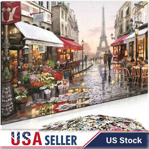 """1000 Piece Jigsaw Puzzle """"Paris Flower Street"""" Adult Kids Learning Education Toy"""