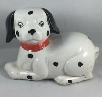 Vintage Ceramic Dalmatian Puppy Figure Made in Brazil with Red Collar