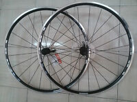 PAIRE ROUES COURSE SHIMANO R500 WH-501 NOIR NEUF