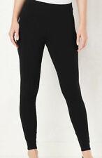 7056899b4aa3d5 LC LAUREN CONRAD Women's Black Midrise Cotton Blend Skinny Leggings Size  Medium