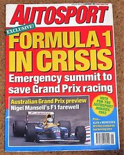 Autosport 5/11/92* MERCEDES 190E 2.5-16 EVO 2 TEST & POSTER - TOCA SHOOT OUT