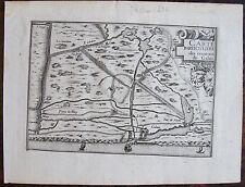 CARTE PARTICULIERE DES ENVIRONS DE CALAIS . Par TASSIN. Carte originale de 1633.