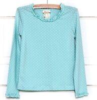 Matilda Jane Size 10 Hello Lovely Minty Tee Top Shirt Dot Long Sleeve