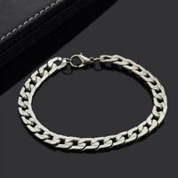 Cool Titanium Steel Men's Bracelet Bike Link Chain Wristband Bangle Jewelry
