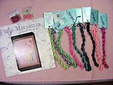 "MIRABILIA X-Stitch Kit - Pattern+ Fabric+Threads+Beads, ""The Peony Garden"""
