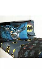Kids Bed Sheet Bedding Set Batman Twin Size Bedroom 3 Pieces Toddler Boys NEW