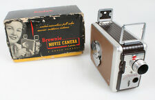 ART DECO 8MM MOVIE CAMERA IN ORIGINAL BOX WITH MANUAL