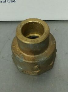 "1-1/4"" to 3/4"" Brass Female Adapter FIP x C Sweat Fitting NOS"