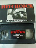 Alfred Hitchcock Sabotage 1936 Sylvia Sidney Oscar Homolka - VHS Spanisch