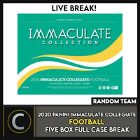 2020 PANINI IMMACULATE COLLEGIATE 5 BOX (FULL CASE) BREAK #F531 - RANDOM TEAMS