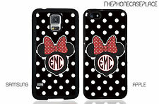 Minnie Mouse Polka Dot Monogram Phone Case for Apple or Samsung Phone Case Cover