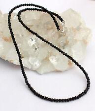 ESPINELA Cadena de Piedra Preciosa Plata 925 Negro spinellkette espinelas Collar