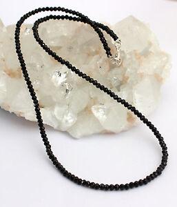 Espinela Cadena de Piedra Preciosa Negro Espinelas Collar Cadena Joya Mujer