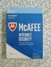 NEW McAfee Internet Security 2017 - 3 Devices 1 Year protection RN30