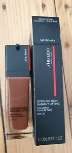 BNIB Shiseido Synchro Skin Radiant lifting Foundation in mahogany - RRP £41