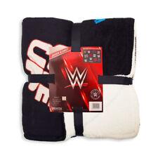 WWE LEGENDS Black Sherpa Fleece Throw Blanket Great Christmas Birthday Gift
