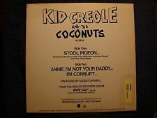 """Kid Creole And The Coconuts - Stool Pigeon (Remix) - U.S. PROMO 12"""" VINYL"""
