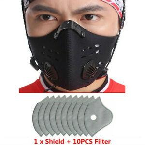 Black Face Mask Fashion Unisex Reusable Washable Cover Mask Men Women UK