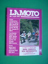 LA MOTO Luglio 1990 Guzzi 1000 SP Kawasaki KLR 600 Sport Cagiva 125 Mito Pegaso