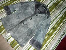 Leder Mantel Winter, Grau/Blau, neuwetig, ausprobiert, nicht getragen Gr 42/44