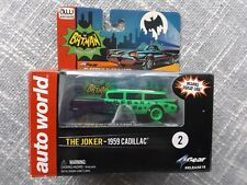 Auto World 4 Gear Batman The Joker 1959 Cadillac HO Slot Car Release 15 NEW MIB