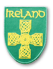 Irish Celtic Cross Ireland Shield Embroidered Sew-on Cloth Badge Patch Appliqué