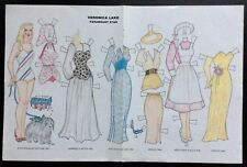 Vintage Veronica Lake Paramount Star Paper Doll Uncut,1988 Mag.