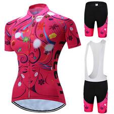 TELEYI Womens Short Sleeve Cycling Jersey Suit Summer Sport MTB Bike Jersey Set