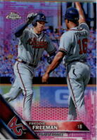 2016 Topps Chrome Pink Refractors Baseball Card Pick