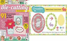 DIE CUTTING ESSENTIALS MAGAZINE ISSUE 8 FREE SPRINGTIME COLLECTION DIE SET