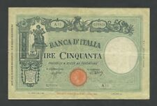 ITALY 50 lire  1943 TYPE  Krause.64  Good Fine  Banknotes