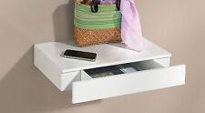 Wandregal mit Schublade | Wandboard | Schubladenregal CASSETO - Weiß hochglanz