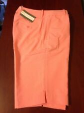 NWT Fairway & Greene Women's Macie Golf Short Papaya size 4 14 NEW