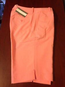 NWT Fairway & Greene Women's Macie Golf Short Papaya size 4 14 NEW