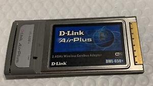 D-Link AirPlus DWL-650+ 2.4Ghz PCMCIA Cardbus Wireless WiFi Network Adapter