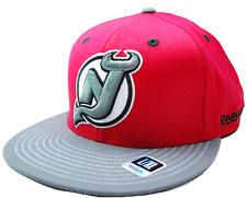 New Jersey Devils Reebok  MO89Z NHL Team Logo Flex Fit Hockey Cap Hat  L/XL
