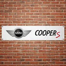 Mini Cooper S Car Banner Garage Workshop PVC Sign Trackside Display JCW
